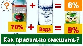 Любой % Уксуса из Уксусной кислоты ЛЕГКО!