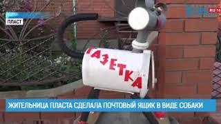 Жительница Пласта сделала почтовый ящик в виде собаки