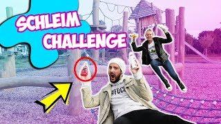 SCHLEIM ZUTATEN FINDEN auf dem SPIELPLATZ | DIY Flaschen Slime Challenge mit Kaan & Kathi |Spiel mit