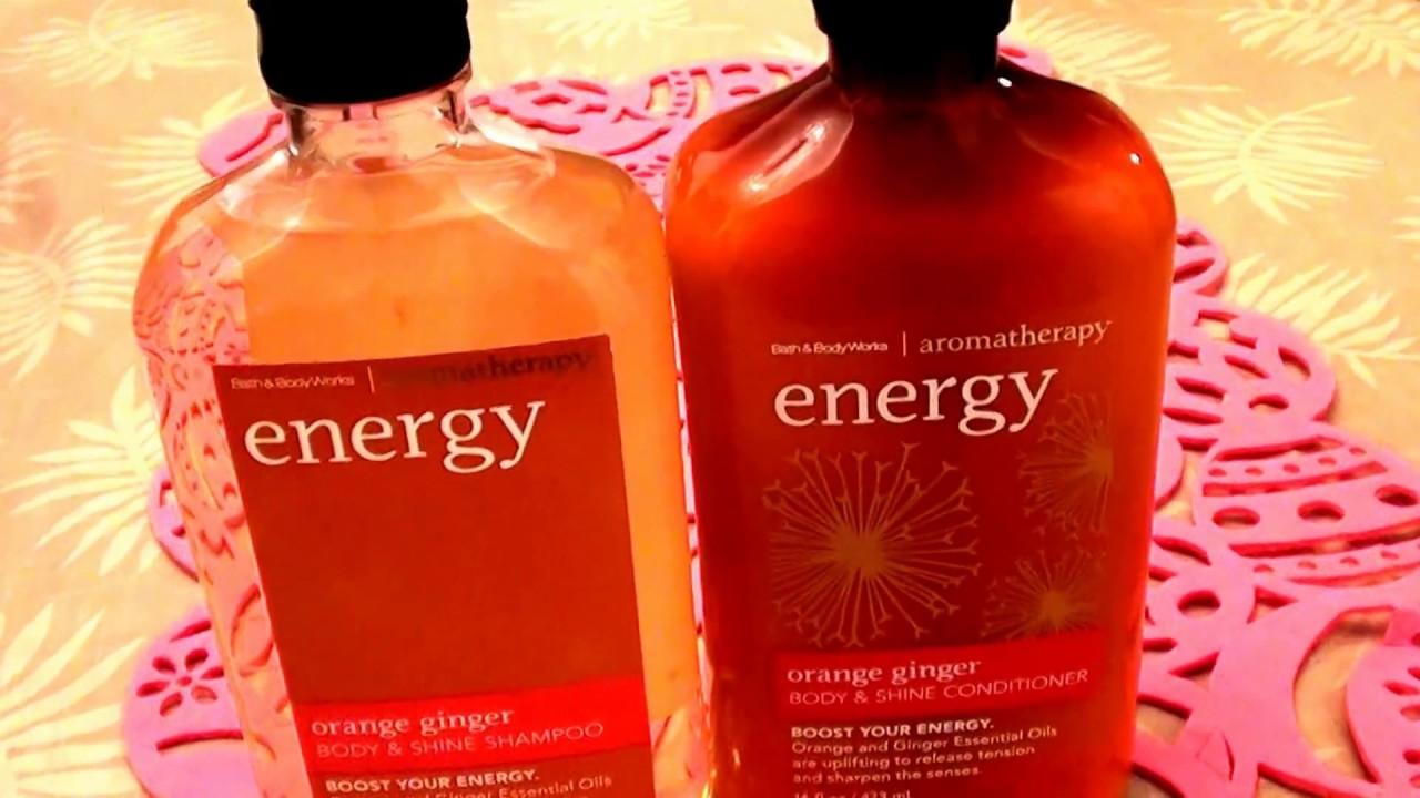 Bath Body Works Aromatherapy Body Shine Shampoo Orange Ginger Conditioner Cruelty Free Youtube