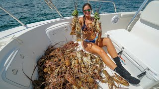 Florida LOBSTER LIMITS!! Catch Clean and Cook! Fort Lauderdale Mini Season