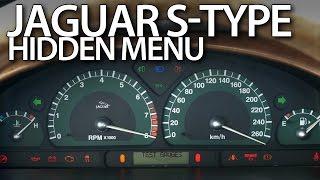 Jaguar S-Type hidden menu, instrument cluster test mode