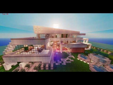 Minecraft pe casa moderna enorme descarga doovi for Como hacer una casa moderna y grande en minecraft 1 5 2