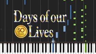 Days of our Lives - Theme Song [Synthesia Tutorial]