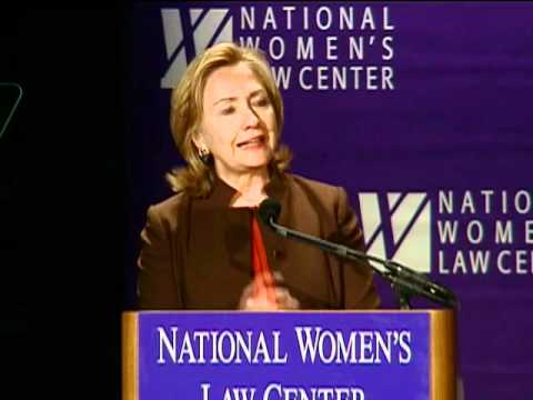 Secretary Clinton Delivers Remarks at the National Women's Law Center Awards Dinner