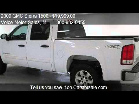 2009 gmc sierra 1500 sle1 4x4 crew cab short box for sale for Voice motors kalkaska michigan