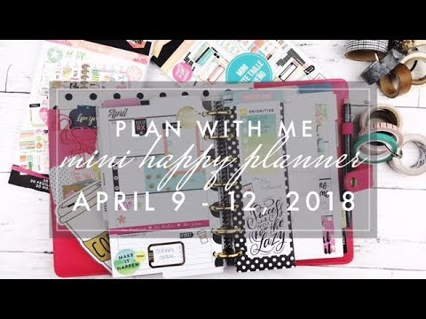 Plan with Me Mini Happy Planner April 9 -12, 2018 from YouTube · Duration:  14 minutes 27 seconds
