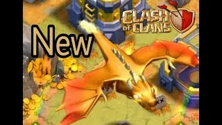 A NEW DRAGON -clash of clan update gameplay