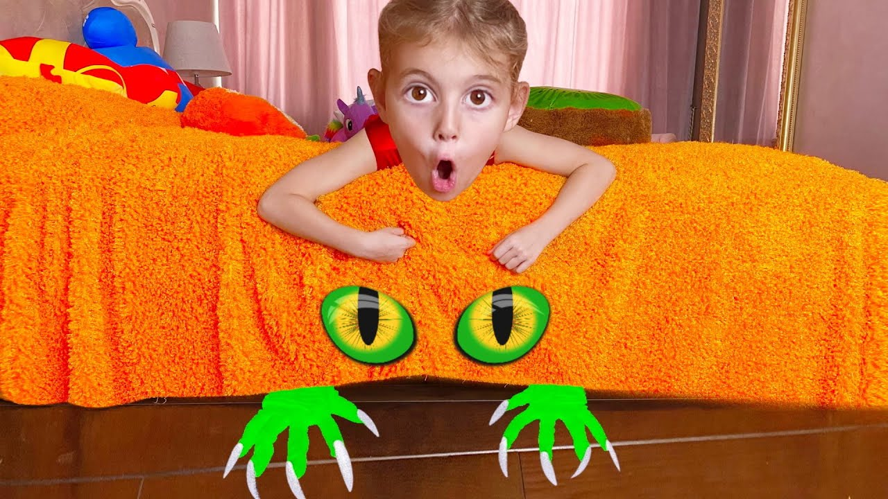 Five Kids Monster under my bed story
