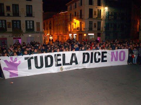 """Cientos de personas se concentran en Tudela al grito de """"Tudela dice no"""""""