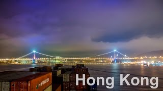 MEGA CONTAINER SHIP passing Hong Kong to China - 4K Timelapse | Life at Sea