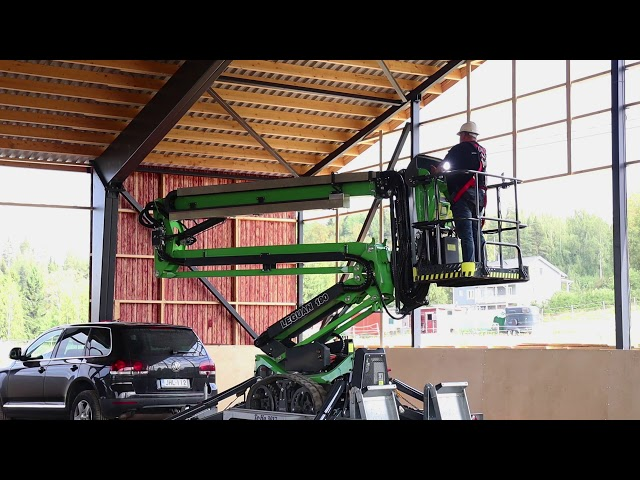 Leguan 190 spider lift used directly from a trailer