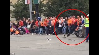 Video Shows Adacia Chambers drives car into crowd .Oklahoma State Homecoming Crash
