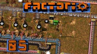 FACTORIO 🚂 Fertigung mit Abzweigung ► #5 S04 Fabrik Aufbau Simulation deutsch german