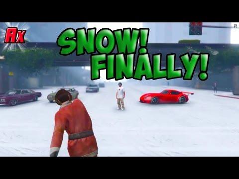 SNOW in Los Santos! Christmas Surprise by Rockstar 👍Gta 5 Online Alphyx