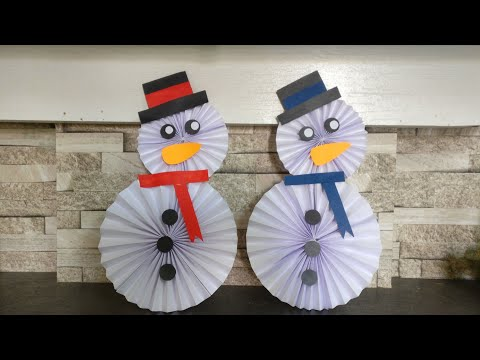 How To Make Paper Snowman   DIY   Paper Craft   Kids Craft