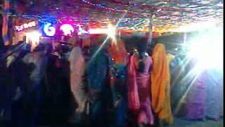 Aadivasi (tribal) bhill dance in wedding in nandurbar,maharashtra, india