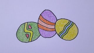Cómo dibujar huevos de Pascua