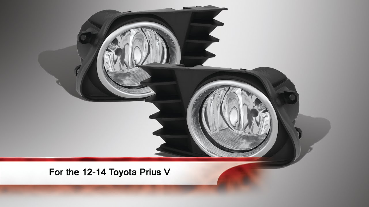 2012 2014 Toyota Prius V Fog Lights With Switch Youtube