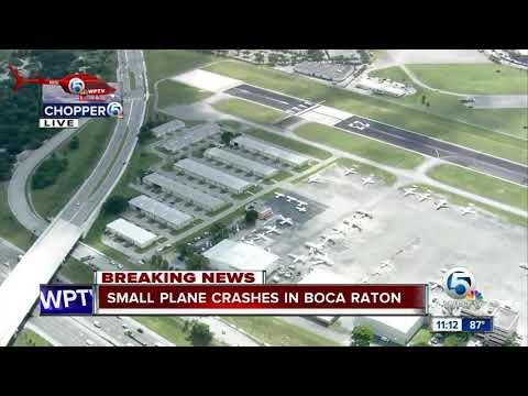 Small plane crashes in Boca Raton