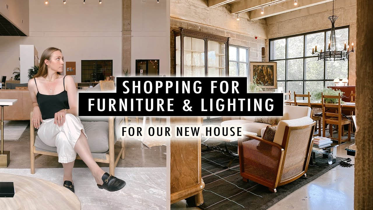 FURNITURE & LIGHTING SHOPPING For Our New House   XO, MaCenna