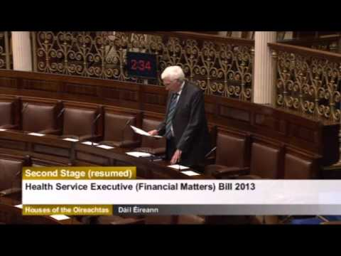 Deputy Sean Kenny speaking on the Health Service Executive Financial Matters Bill