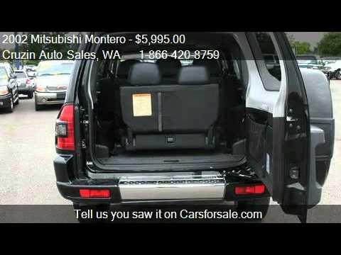 2002 Mitsubishi Montero Limited 4WD  for sale in Tacoma WA  YouTube