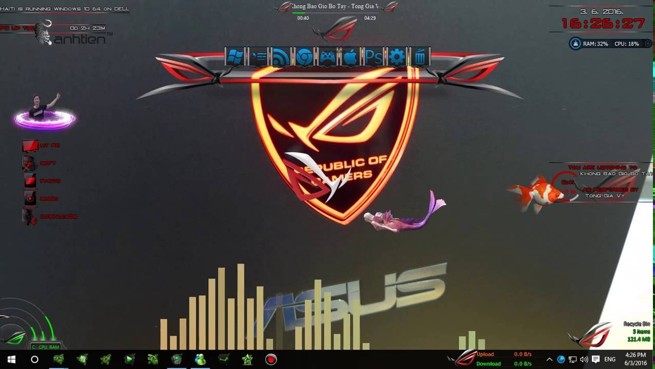 Windows 10 - Asus ROG Theme - YouTube