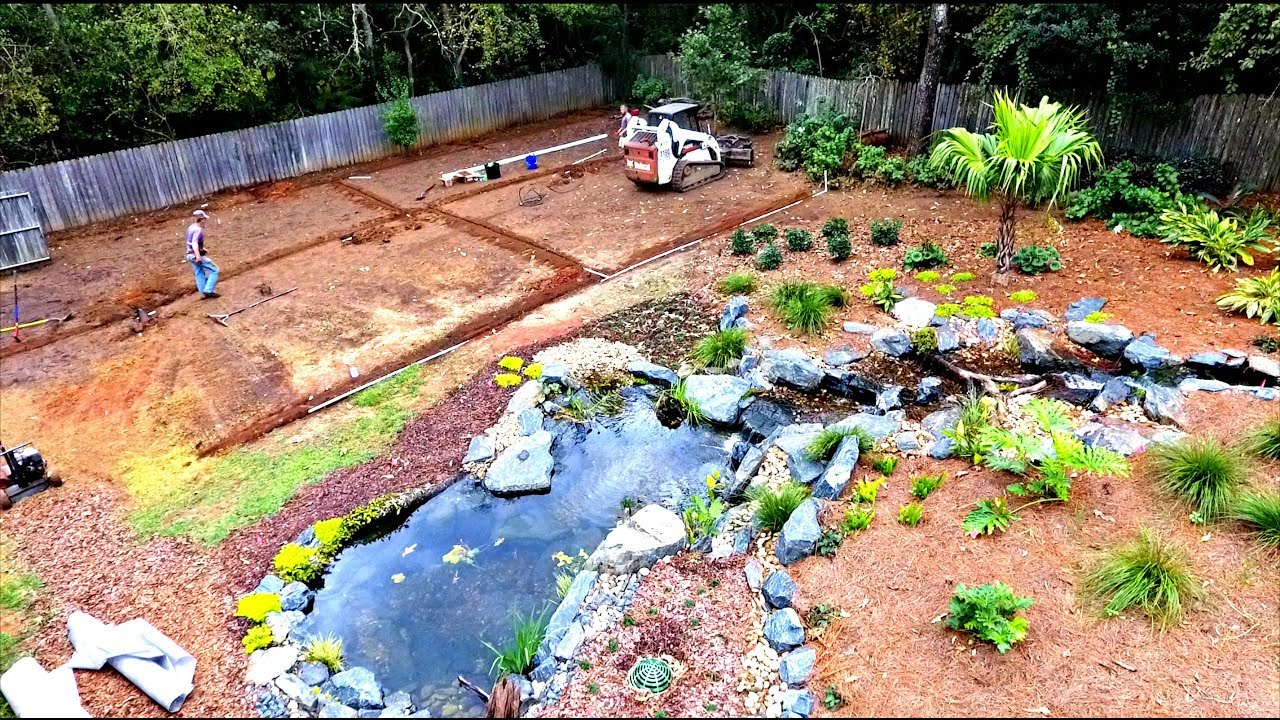 Backyard Bass Pond Upgrades!! - YouTube