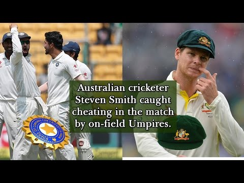 Steven Smith caught cheating by on-field Umpires, act caught on cameras. 07-03-2017. Vision TV World