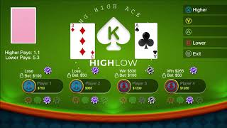 Casino High Low for Xbox one and Windows PC