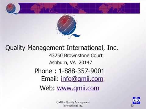 QMII - Quality Management International, Inc. | ISO Training