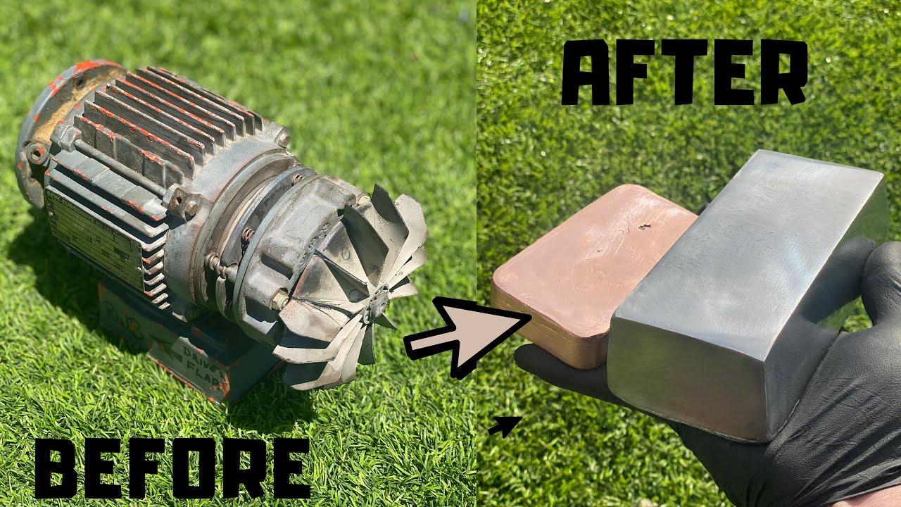 Scrap Motor Melt Down - Copper Aluminum - Orc Coins - ASMR Metal Melting - BigStackD Casting