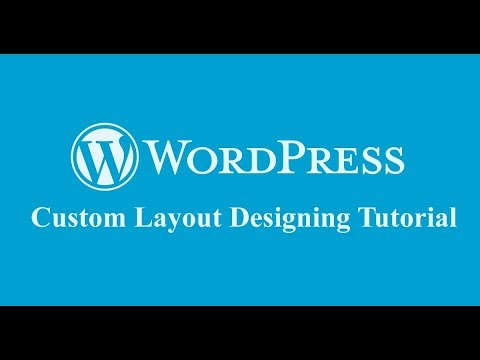 how to create custom layout design for frontend pages in wordpress with page builder?