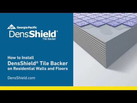 How To Install Densshield 174 Tile Backer On Residential