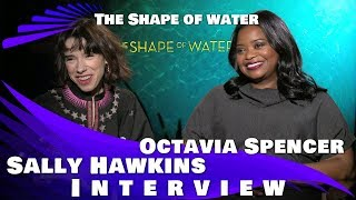 SALLY HAWKINS & OCTAVIA SPENCER INTERVIEW - THE SHAPE OF WATER