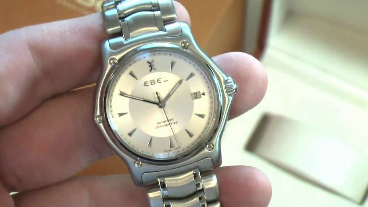 new ebel watch mens watch 1911 automatic ss chronometer new ebel watch mens watch 1911 automatic ss chronometer