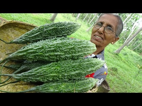 Bitter Gourd Masala Curry вЭ§ Healthy Village Food by Grandma | Village Life
