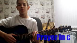 Как играть мелодию из кухни или Prayer in c на гитаре.Видеоурок