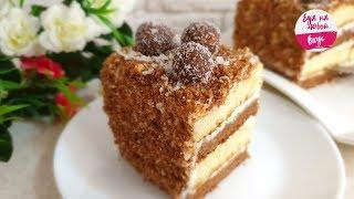 вкусный ТОРТ  на Новый год и не только:  легкий бисквитно-фруктовый торт