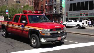 FDNY SPECIAL OPERATIONS PICK-UP TRUCK AT E. 3RD ST. & THE BOWERY AROUND EAST VILLAGE IN NEW YORK.