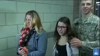 Soldier Surprises Sister On Christmas Homecoming And PRICELESS Reaction!