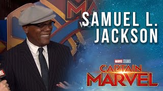 Samuel L. Jackson opens up about Young Nick Fury in the MCU! | Captain Marvel Red Carpet Interview
