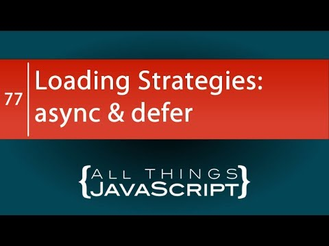 JavaScript Loading Strategies: Using the async and defer Attributes