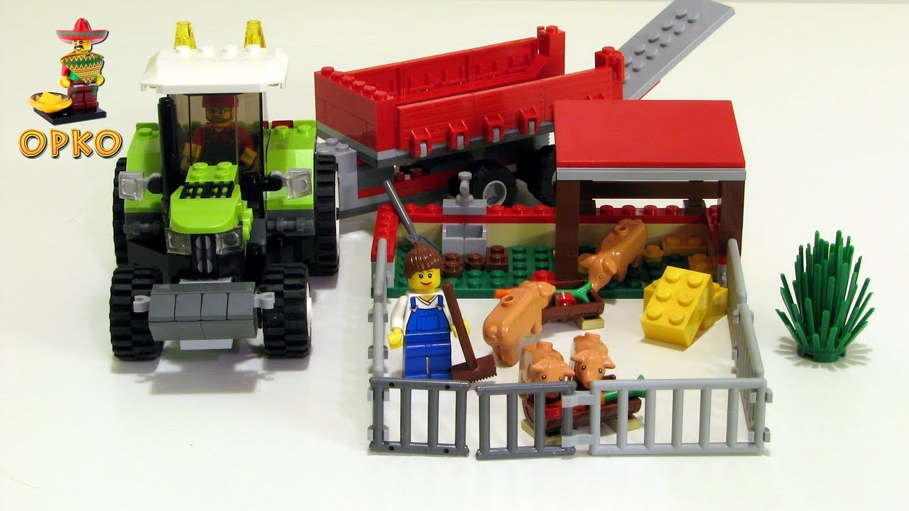 Lego City Pig Farm Tractor 7684 Youtube