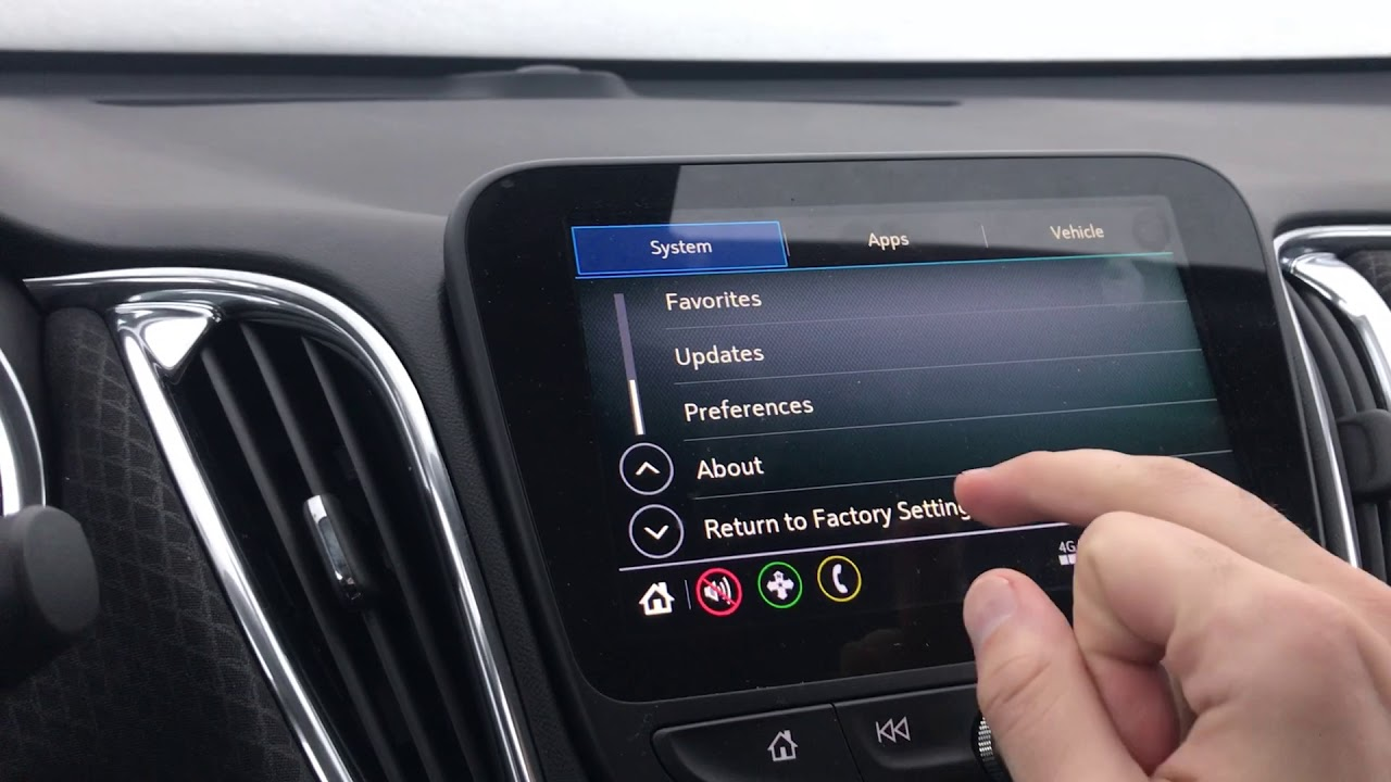 How to reset your settings on a Chevrolet MyLink radio
