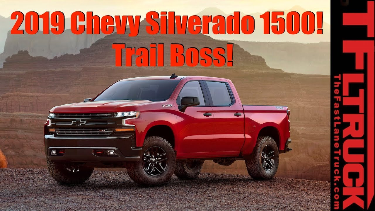 Live: All-New 2019 Chevy Silverado 1500 TrailBoss 4x4 ...