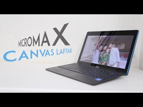 Micromax Canvas Laptab First Look Video