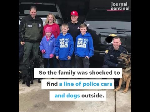 A Hartland Girl Who Loves Dogs Gets A Surprise Visit From 40 Police Dogs