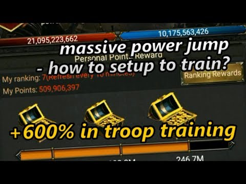 [+600% On Troop Training Speed] How To Setup To Training * 18M Power Jump *